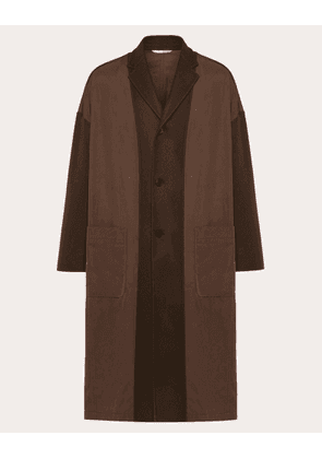 Valentino Uomo Coat In Double-layer Wool Man Brown  50