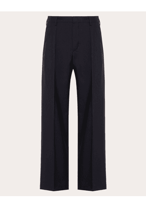 Valentino Uomo Mohair Trousers Man Blue  46