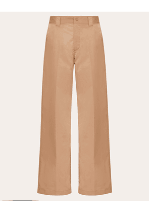 Valentino Uomo Straight Fit Trousers Man Camel  48