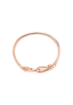 Paloma Picasso® Knot hinged bangle in 18k rose gold, large