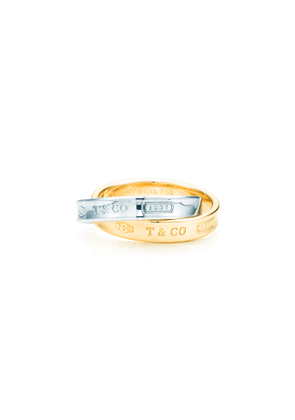 Tiffany 1837™ interlocking circles ring in sterling silver and 18k gold - Size 6