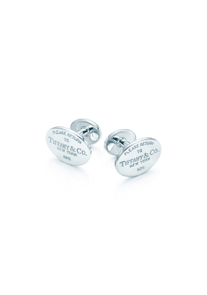 Return to Tiffany™ cuff links in sterling silver