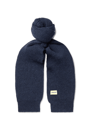 De Bonne Facture - Ribbed Wool And Alpaca-blend Scarf - Navy