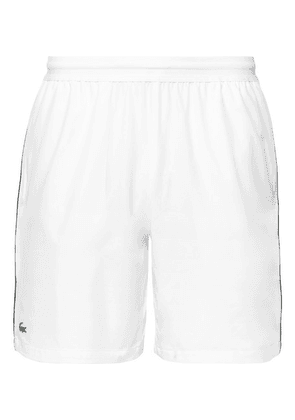 Lacoste Tennis - Novak Djokovic Stretch-shell Tennis Shorts - White