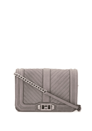 Rebecca Minkoff Love small quilted crossbody bag - Grey