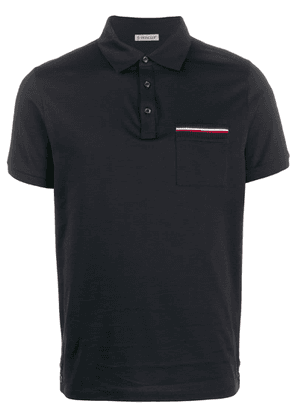 Moncler fitted polo shirt - Blue