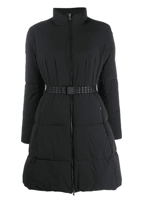 Emporio Armani belted padded parka - Black