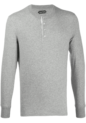 Tom Ford half-button long-sleeve T-shirt - Grey