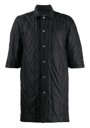 Rick Owens DRKSHDW quilted button-up shirt - Black