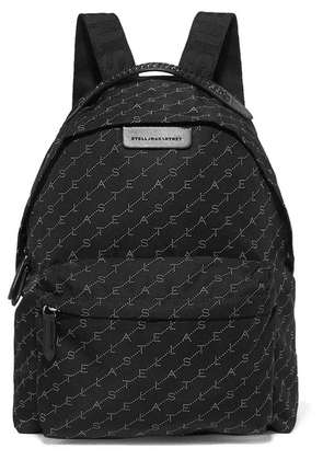 Stella McCartney - + Net Sustain Falabella Go Faux Leather-trimmed Printed Shell Backpack - Black