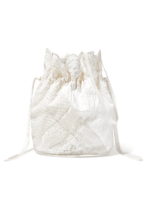 Cecilie Bahnsen - + Sophie Bille Brahe Naima Quilted Patchwork Clutch - White