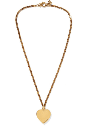 Balenciaga - Precious Heart Gold-tone Necklace - one size