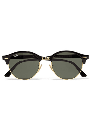 Ray-Ban - Clubround Acetate And Gold-tone Sunglasses - Black