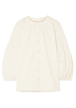APIECE APART - Nanook Cotton-jacquard Blouse - Off-white