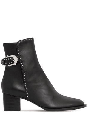 50mm Studded Leather Ankle Boots