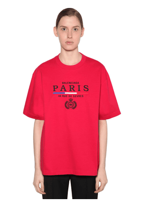 Embroidered Flag Logo Jersey T-shirt