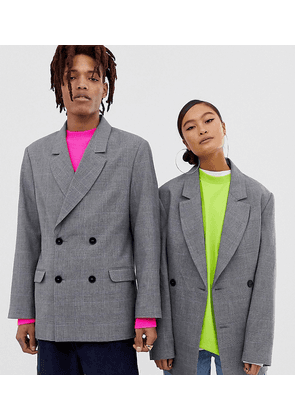 COLLUSION oversized suit jacket in prince of wales check
