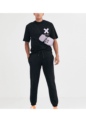 COLLUSION Tall tapered joggers in black