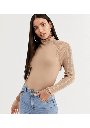 ASOS DESIGN Tall body with open stitch sleeve