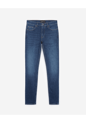 The Kooples - fitted jeans with destroyed fabric - blue