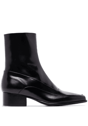 Y/Project square toe 50mm ankle boots - Black