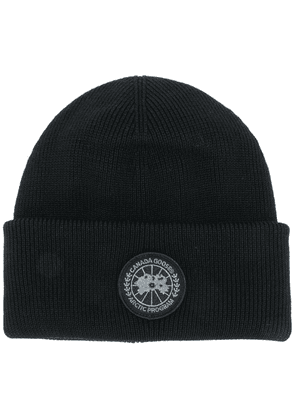 Canada Goose logo embroidered beanie hat - Black