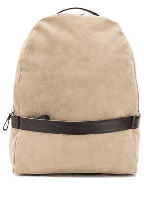 Eleventy panelled backpack - Brown