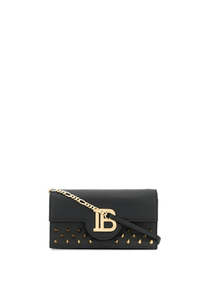Balmain logo shoulder bag - Black