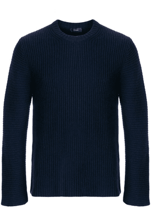 Joseph ribbed crew neck jumper - Blue