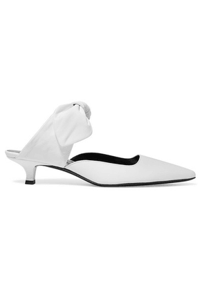 The Row - Coco Leather Mules - Ivory