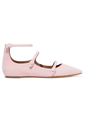 Tabitha Simmons - + Equipment Lynette Suede Point-toe Flats - Baby pink