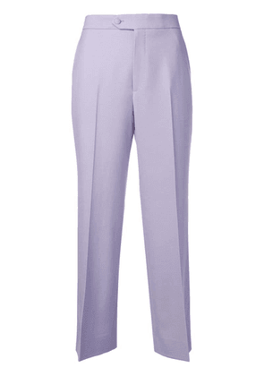 Gucci straight cropped trousers - Purple