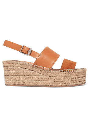 rag & bone - Edie Leather And Suede Espadrille Wedge Sandals - Tan
