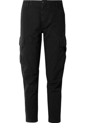 RE/DONE - Cropped Cotton-twill Pants - Black