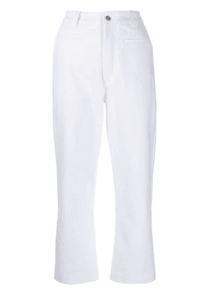 Loewe cropped jeans - White