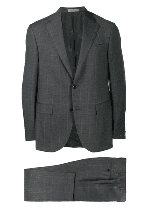 Corneliani check two-piece formal suit - Grey