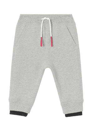 Boy's Double Ribbed Logo Patch Sweatpants, Size 6M-2