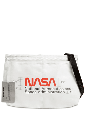 Nasa Print Nylon Crossbody Bag