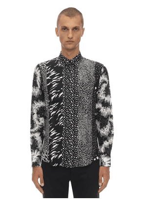 Printed Triple Patchwork Silk Shirt