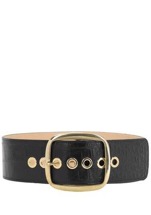 80mm Imogen Croc Embossed Leather Belt