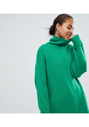 ASOS DESIGN Tall chunky jumper in oversize with high neck