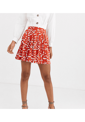 ASOS DESIGN Tall mini skirt with box pleats in abstract animal print