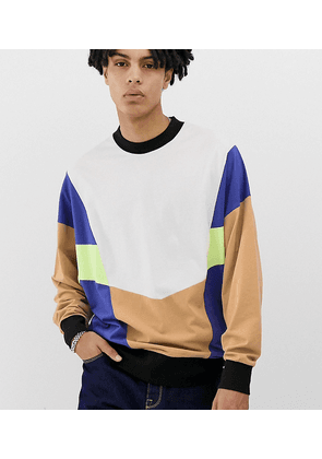 COLLUSION colour blocked long sleeve t-shirt