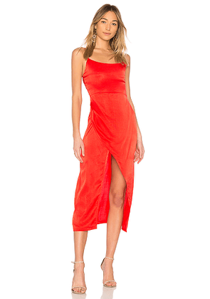 Privacy Please Cleveland Midi in Red. Size XS.