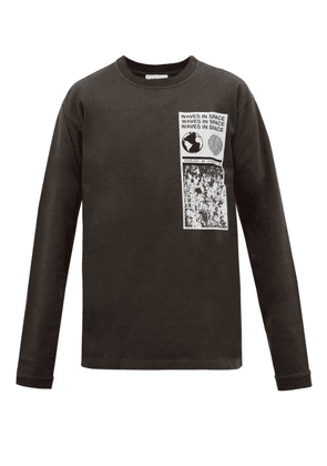 Ambush - Visitor Printed Cotton Long Sleeved T Shirt - Mens - Black
