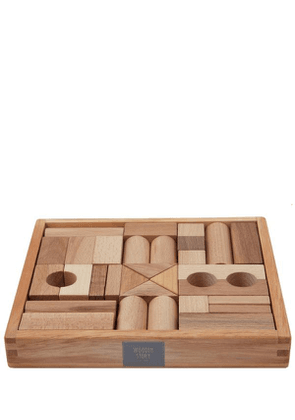 Natural Wooden Blocks In Tray