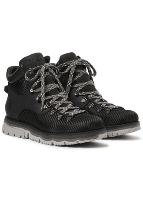 Sorel - Atlis Axe Waterproof Canvas-trimmed Nubuck Boots - Black