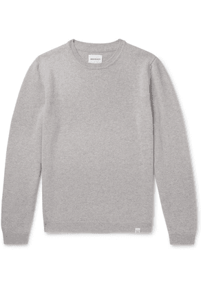 Norse Projects - Sigfred Mélange Brushed-wool Sweater - Gray