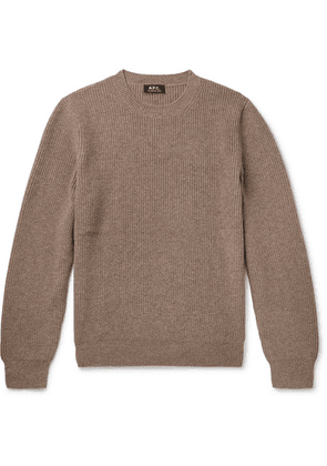 A.P.C. - Wool And Cashmere-blend Sweater - Neutral