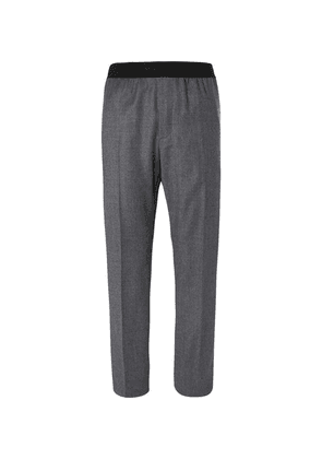 Helmut Lang - Striped Wool Trousers - Gray